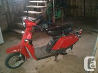 We have a 1984 Yamaha Beluga 80cc for sale the scooter
