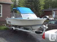 Boat - Glasspar fiberglass boat, 16 foot with cuddy.