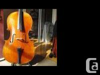 STUNNING 3/4 JAY HAIDE ANTIQUE MODEL CELLO. (INCLUDES