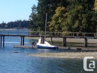 17ft sailboat, heavy fiberglass with cast swing keel