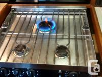 Force10 3 burner propane stove and oven. American