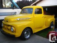 Ford 1952 f-1 resto-rod hi-po 289 4 barrel C-4 auto.