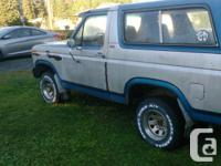 Make Ford Model Bronco Year 1980 Colour Blue silver