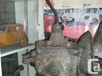 Antique Ford Flathead V8 manual transmission, four