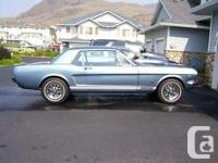 Manufacturing plant GT Coupe A code 289 V-8 rebuilt in