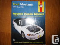 Ford Horse Haynes Repair service Handbook for 1994 thru