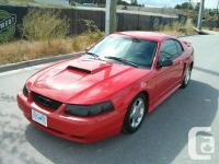 Make. Ford. Design. Mustang. Year. 2003. Colour. Red.
