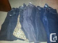 8 pairs of denims. Size 26. 8 Tops. Size Small. All for