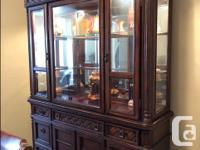 Formal Dining Room set with matching hutch and cabinet.