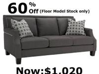 The customizeable Foster sofa features a fresh and