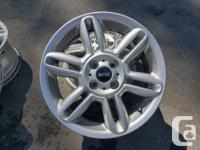 """For sale is four 16"""" 5 SPOKE MINI COOPER wheels. These"""