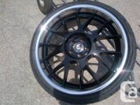 "Four 19"" Brand NEW ADR Wheels & Tires Black/Pol Lip"