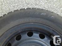 Four 195/65 R15 Pirelli SnowControl Tires on 5 x 112