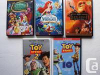 Four 2 disc set Platinum DVD Disney Editions + 1 Disney