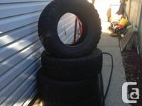 Set of four 285/70 17 Kelly mud tires, good condition,