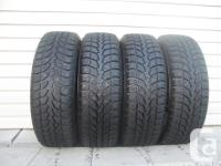 FOUR (4) EXTREME GRIP MX WINTER CLAW WINTER TIRES SIZES