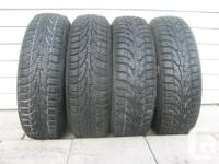 FOUR (4) EXTREME GRIP WINTER CLAW TIRES SIZES
