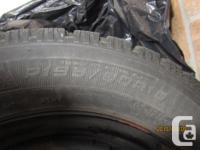Four (4) GOOD YEAR Winter Tires on Rim for sale Good