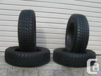 FOUR (4) GOODYEAR NORDIC WINTER TIRES SIZES /185/65/15/