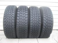 FOUR (4) GOODYEAR NORDIC WINTER TIRES SIZES /195/65/15/
