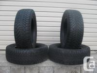 FOUR (4) GOODYEAR NORDIC WINTER TIRES SIZES /215/60/15/
