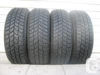 FOUR (4) HANKOOK I*PIKE RC01 WINTER TIRES SIZES