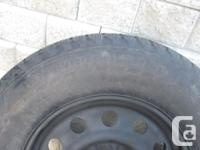 FOUR (4) NOKIAN HAKKAPELITTA LT WINTER TIRES ON RIMS