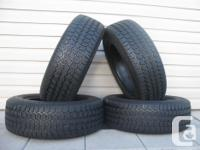 FOUR (4) UNIROYAL TIGER PAW ICE & SNOW WINTER TIRES
