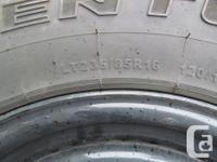 Four Adventuro AT3 ten ply radial tires, 235/85/16,