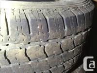 Four used all season tires, still have good tread. Were