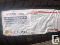 4 brand name new 205/50/R17 Wanli SnowGrip winter
