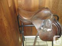 "We have four English saddles for sale - 3 15"" saddles"
