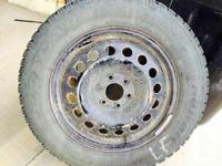 Goodyear winter season tires 225/60 R17 with steel rims