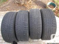 These four Michelin X Ice winter tires were used for