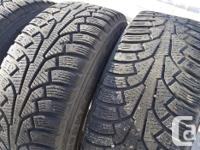 Four (4) 215/60/16 Nokian Nordman 5 Winter tires on