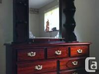 Like New Solid Pine bedroom suite. Double size