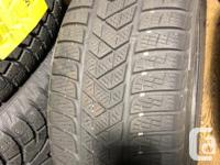 Set of four Pirelli Sottozero 3 tires for sale. Used