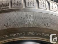 Four snow tires from late 90's Dodge Grand Caravan. On