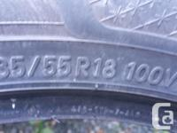 235/55/18 inch 40 % tread remaining. 20 to 25 thousand