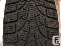 Four Pirelli Carving Edge Winter Tires - size 195/65