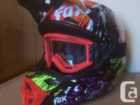Helmet size small would fit kids or adult will small