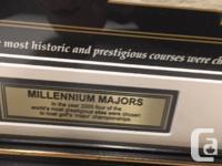 Framed millennium Golfing Majors chosen for 2000. In