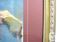 Framed Original Abstract Female Nude Painting -