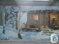 "Framed Wolf Creek Editions ""Mountain Retreat"" Picture,"