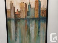 "Framed, wrapped canvas print by Norm Olson ""City View"""