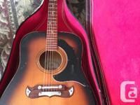 Vintage Framus Texan 5/196 acoustic guitar. Guitar is