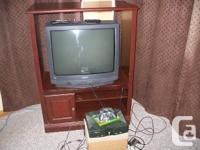 We have A Free 27 inch T.V.with remote. Asking $40.00