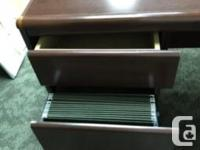 Good shape and quality desk. Dimensions: 65 w x 30