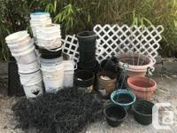 Come and take this entire lot of plant pots, deer