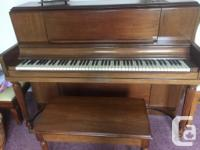 Heinzman piano to give away - excellent condition.